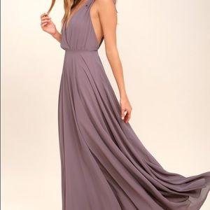 Lulu's Dusty Purple Bridesmaid Dress